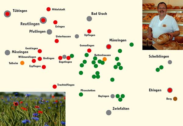 Wo Albkorn zu finden ist. Grafik: Martin Lang