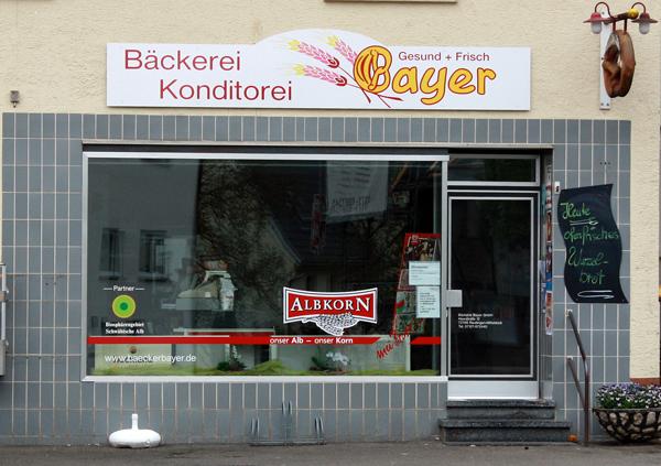 Albkorn-Bäckerei Bayer, Filiale Reutlingen-Oferdingen [Foto: Gerhard Schindler]