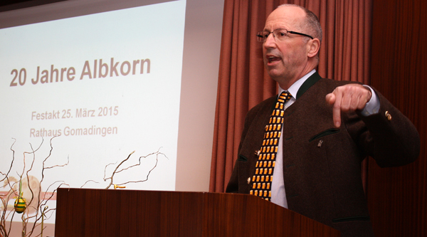 Ulrich Zimmermann, Leiter der Berg-Brauerei in neunter Generation und seit 2008 Albkorn-Mitglied. [Foto: Gerhard Schindler]