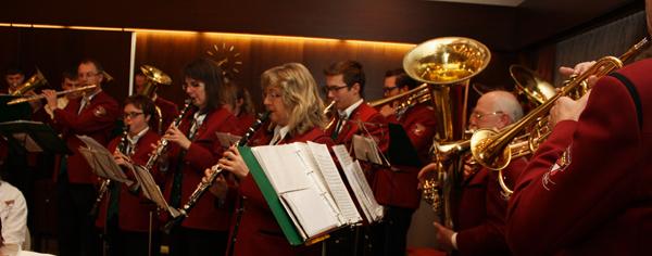 Die Lautertal-Musikanten vom Musikverein Dapfen umrahmten den Festakt mit Musik. [Foto: Gerhard Schindler]