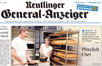 GEA-Titelseite vom 17.09.2015 mit Albkorn-Bäcker Markus Schnurr