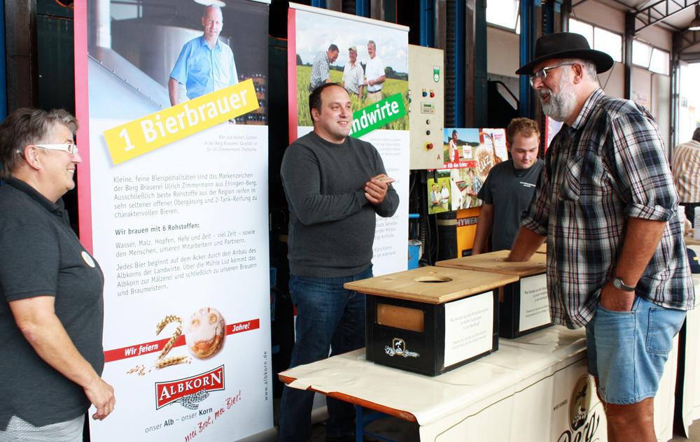 Albkorn-Stand beim Bier-Express im Lokschuppen Münsingen