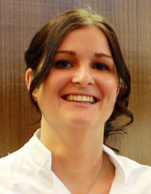 Anika Schäfer, neue Inhaberin der Albkorn-Bäckerei Sautter in Eningen u.A. [Foto: Gerhard Schindler]
