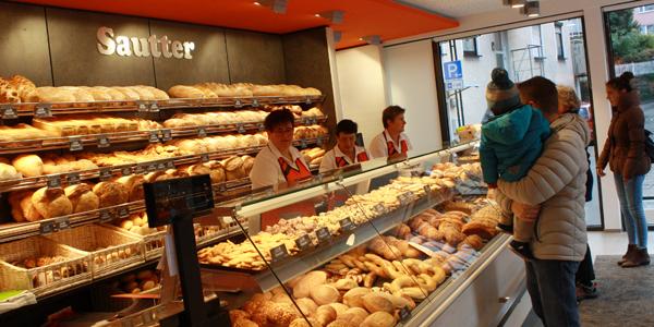 Verkaufsraum Albkorn-Bäckerei Sautter