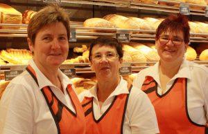 Drei Frauen vom Verkaufsteam der Bäckerei Sautter.