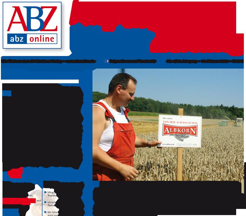 Albkorn-Landwirt Manfred Schmelcher auf der Titelseite der Allgemeinen Bäcker-Zeitung.