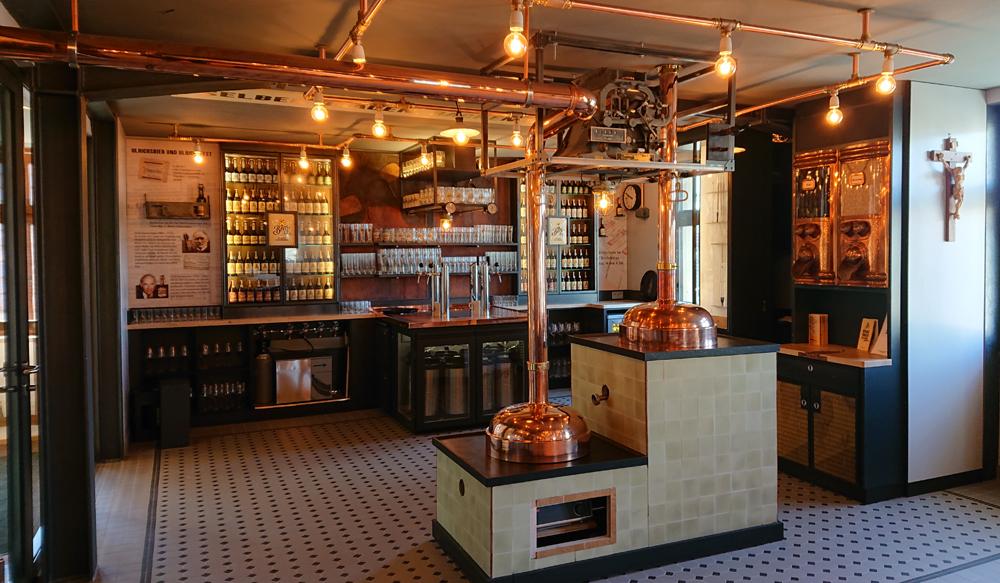 Blick in die Brau- und Backstube der Brauerei Berg