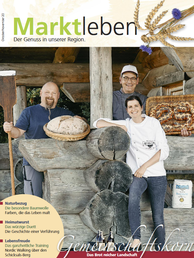 Titelblatt des Magazins Marktleben im Oktober 2020